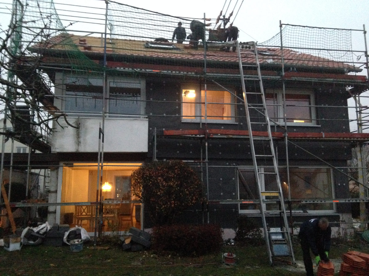 dachsanierung & dämmung der fassade in böblingen - dachdecker